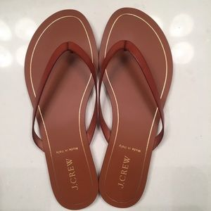 J. Crew Rio Sandals in Roasted Acorn, Size 8